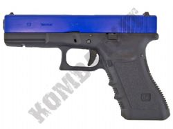 WE E17 Gen 4 G-Series Gas Blowback Airsoft BB Gun 2 Tone Blue Black Metal Slide